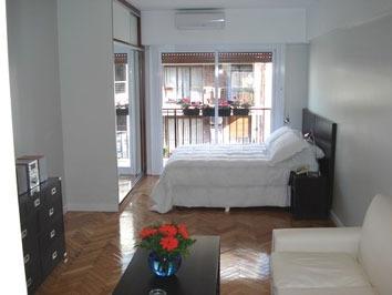 alquiler temporario 1 ambiente recoleta luminoso balcón