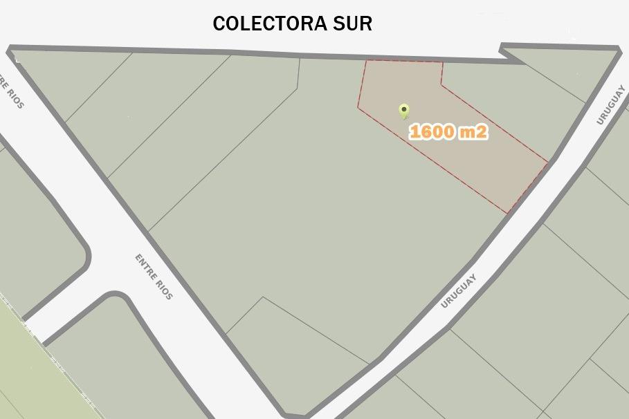 alquiler: terreno de 1600 m2 sobre colectora de acceso oeste