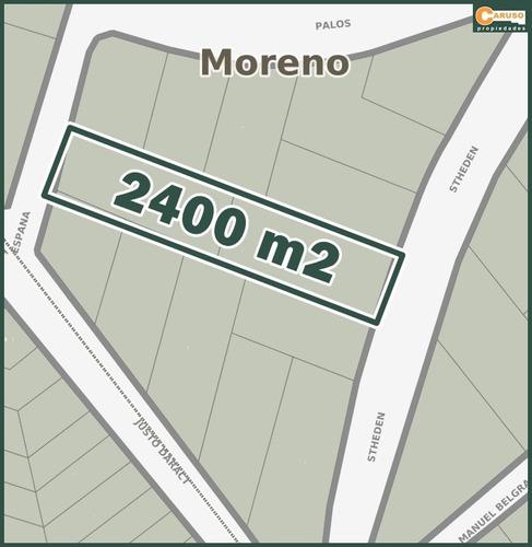 alquiler: terreno de 2400 m2 a metros de salida acceso oeste