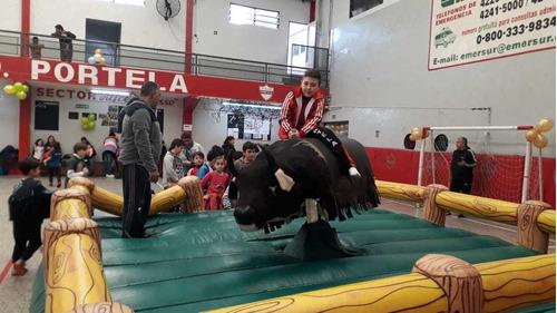 alquiler toro mecanico/ inflables