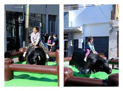alquiler toro mecanico zona sur samba inflables cabina