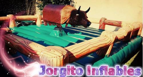 alquiler toro mecanico,inflables, camas elasticas  zona sur