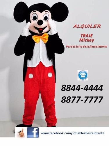 alquiler trajes personajes elsa mickey minnie peppa