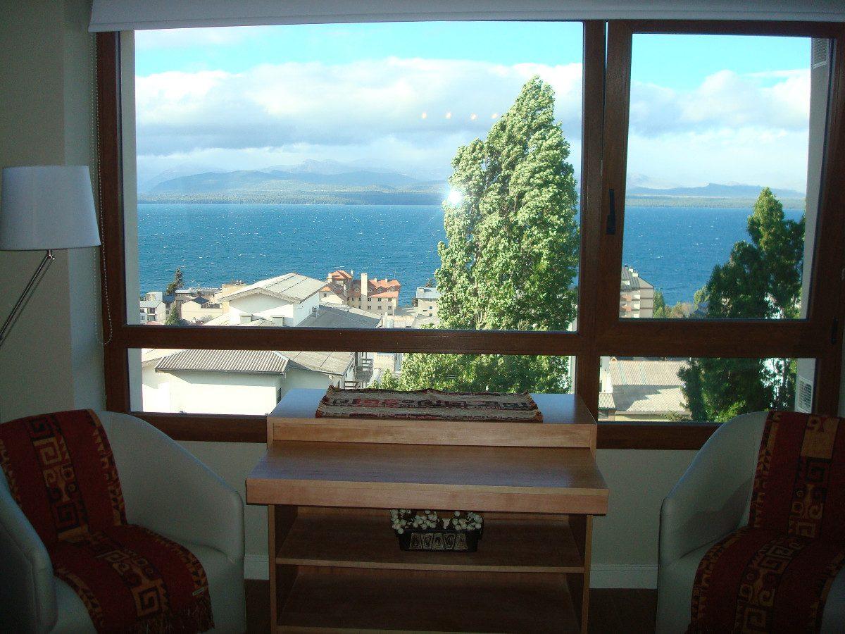 alquiler turístico bariloche. vista al lago