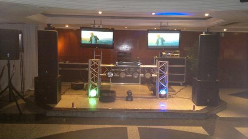 alquiler tv, video beam, micrófono, karaoke, dj, display, vj