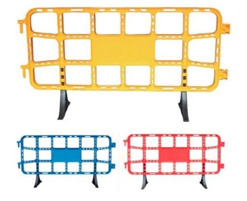 alquiler valla plastica peatonal 2 mts, varios colores.