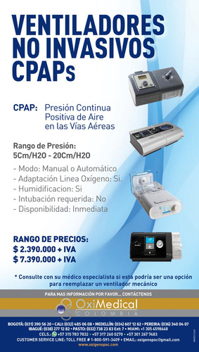 alquiler venta apnea sueño cpap resmed oximedical bgta norte