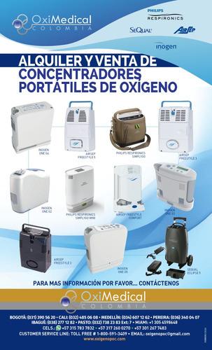 alquiler venta concentrador portatil oxigeno ecuador pasto n