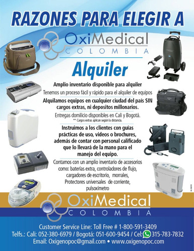 alquiler venta maquina apnea sueño cpap bipap oximedical