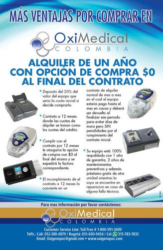 alquiler venta maquina apnea sueño cpap oximedical pereira