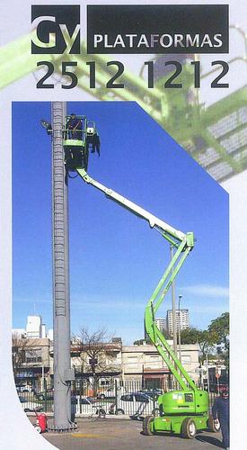 alquiler venta plataforma elevadora tijera brazo articulado