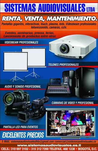 alquiler venta videobeam asambleas portátiles telones