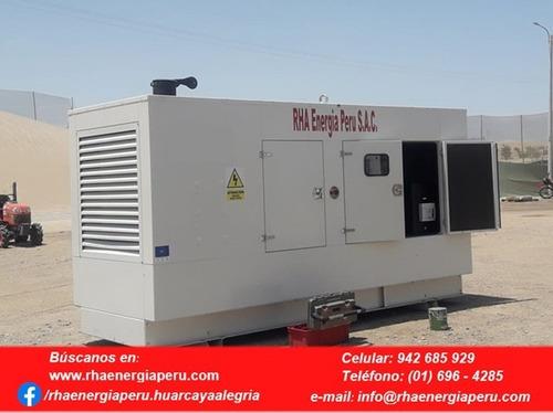 alquiler  - venta y mantenimiento de grupos electrógenos.