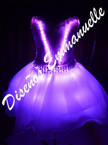 alquiler vestido led luces 15 años fiesta novias