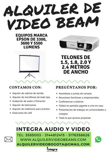 alquiler video beam bogotá x horas o días cel. 317 6358626