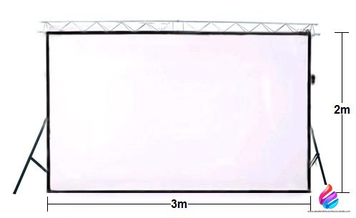 alquiler video beam proyector telón portátil pantalla tv led