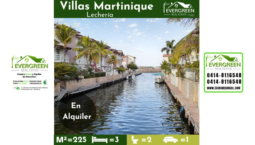 alquiler villas martinique lecheria 04248116548 /04248520122