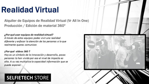 alquiler vr lentes realidad virtual android all in one