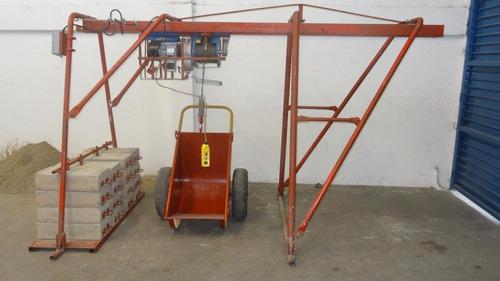 alquiler winche eléctrico y equipos de construc dr andamio