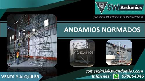 alquiler y venta : andamios acrow-normados, puntales,vallas