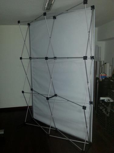 alquiler y venta de backing y stands portátiles, araña, aero