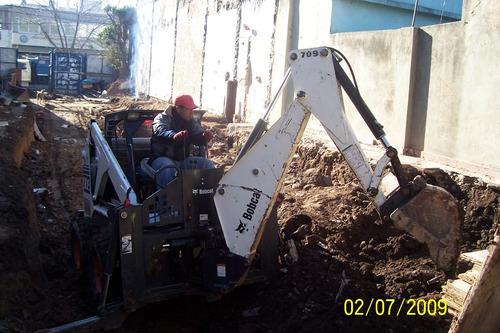 alquiler,bobcat mini camion volcador limpieza terreno y obra