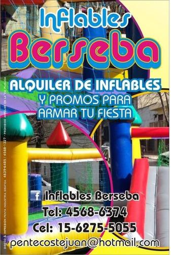 alquilerde inflables plaza blanda metegol tejo cama elastica