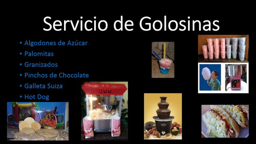 alquiler/inflables/granizados/trampolín/palomitas/toldos/