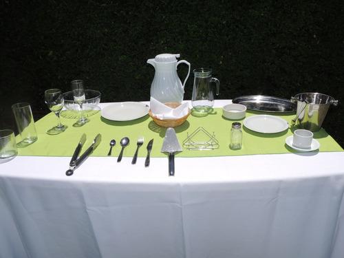 alquiler:sillas,mesas,manteles,vajilla, hornos,hielo,cafe