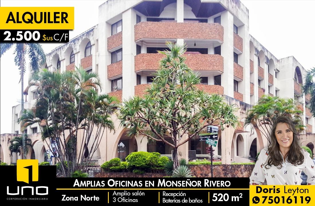alquilo 530 mt2 de oficinas a $us 2500 zona monseñor