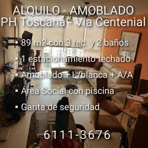 alquilo amoblado - toscana (vía centenial condado del rey)