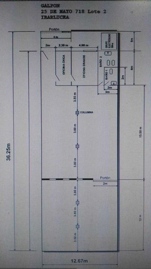 alquilo amplio galpon en ibarlucea!! 400 m2 cubiertos sobre calle principal - ideal deposito