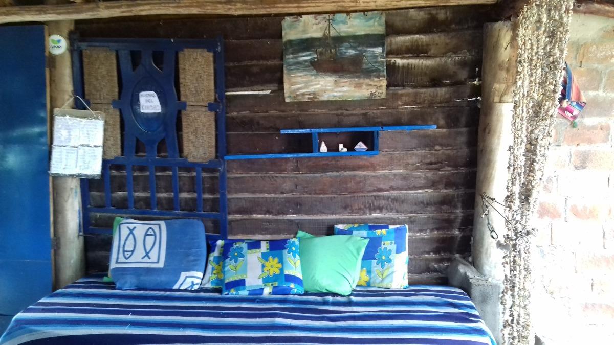 alquilo cabaña de madera frente al mar