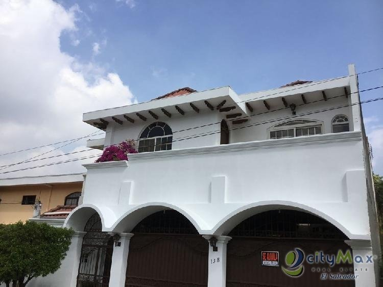 alquilo casa en residencial cumbres de cuscatlán  - pac-003-02-20