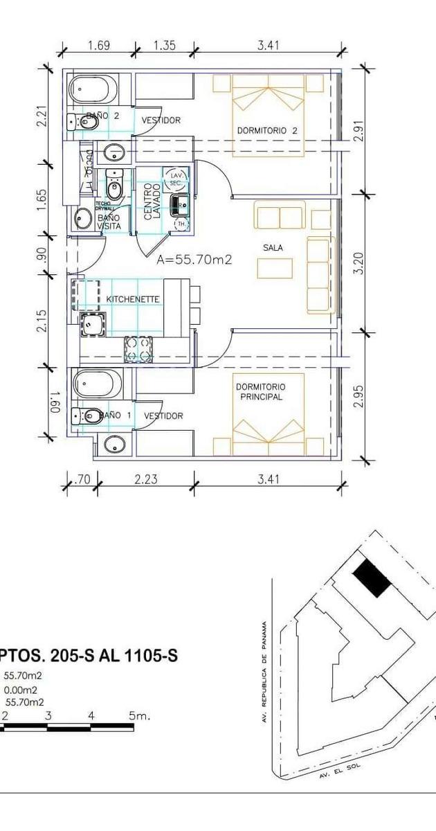 alquilo departamento 2dorm 3 baños amoblado barranco