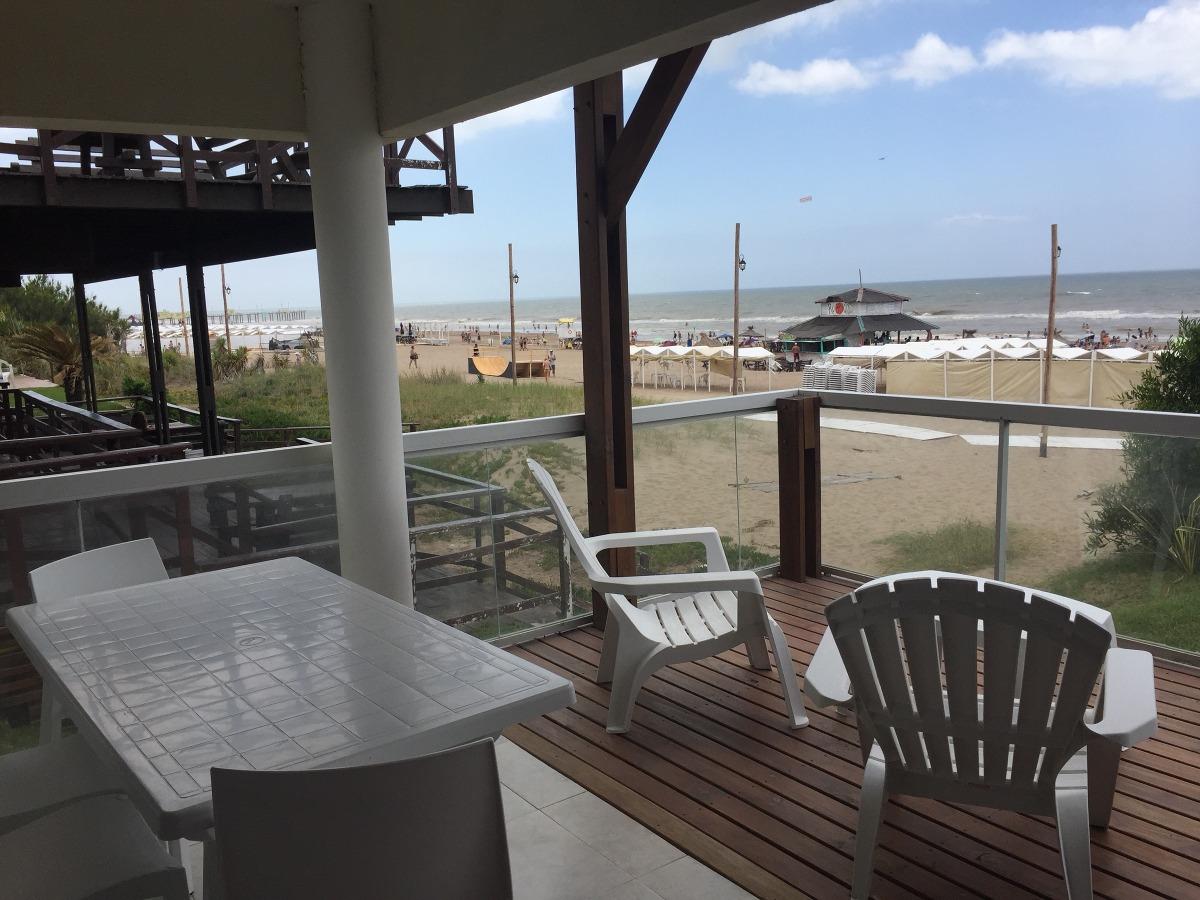 alquilo departamento sobre la playa frente al mar pinamar
