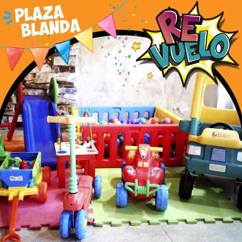 alquilo inflable, plaza blanda, pelotero, metegol y tejo