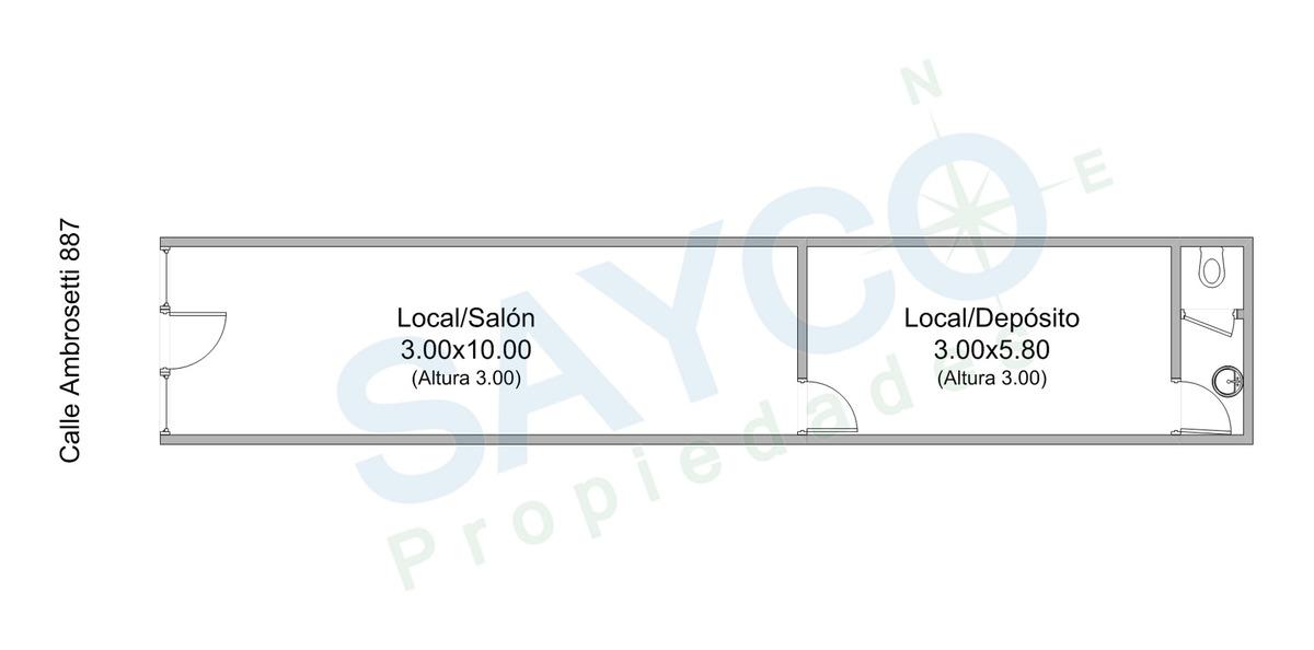 alquilo local 55m2 vidriera, reja manual (v. crespo)