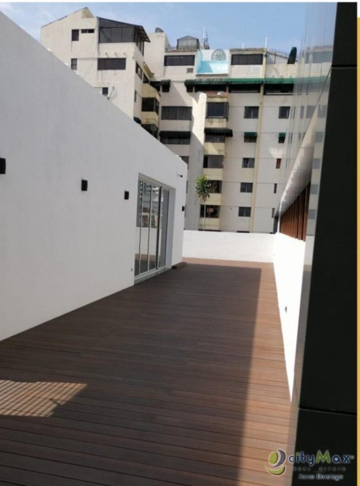 alquilo local  con terraza privada naco.
