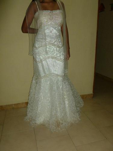 alquilo o vendo vestido de novia corte sirena