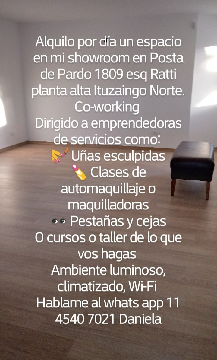 alquilo x día showroom para cursos clases taller co-working