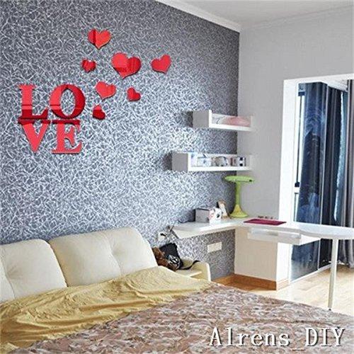 alrens_diy (tm) 11pcs corazones de la letra de amor diy pat
