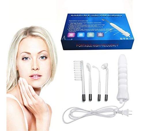 alta frecuencia portátil facial, 4 electrodos cabello cuerpo
