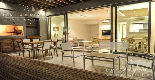 altamar, unidad de 2 dormitorios, 2 baños, 1 en suite, living comedor, garage, baulera.