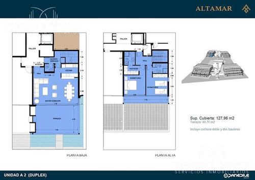 altamar, unidad duplex, semi piso de 2 dormitorios en suite, 2 garages y 2 bauleras. verano 2018!!