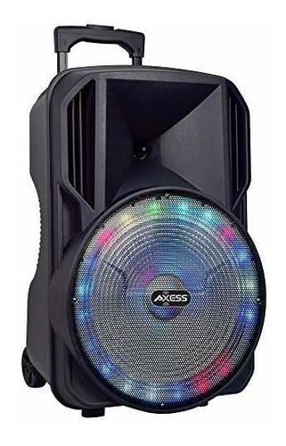 altavoz activo bluetooth portatil, luces led, woofer de 15
