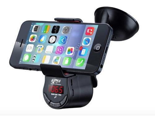 altavoz bluetooth con transmisor fm soporte para celular