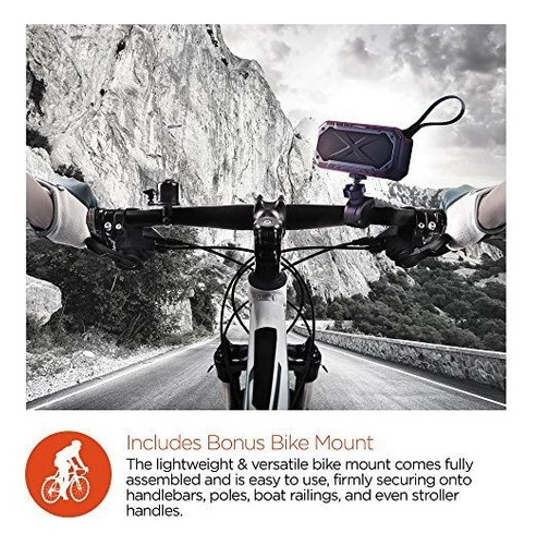 altavoz bluetooth hypergear storm bike con montaje para bici