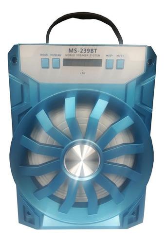 altavoz bluetooth led ms - 129 (fm, usb, mp3, aux)