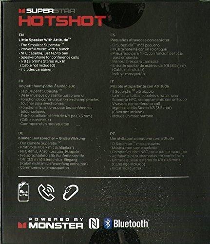 altavoz bluetooth portatil monster superstar hotshot blanco